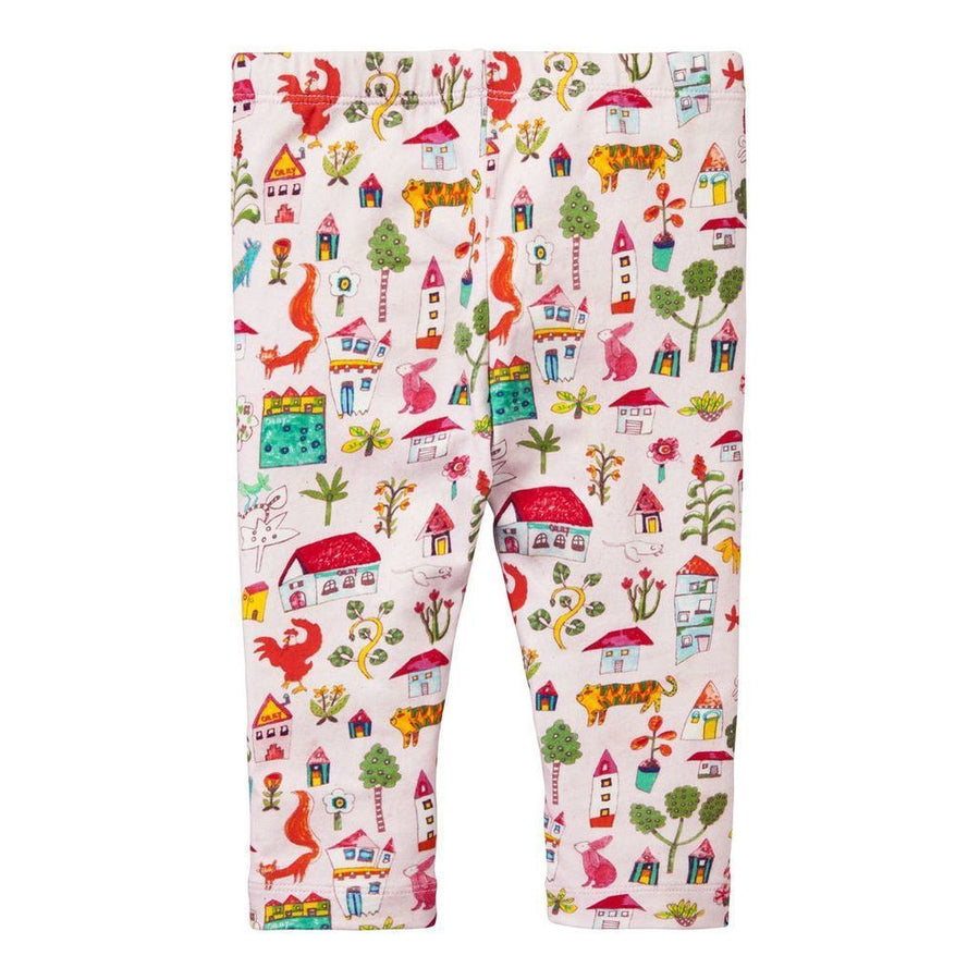 Oilily Pink Tiska leggings-Leggings-Oilily-kids atelier