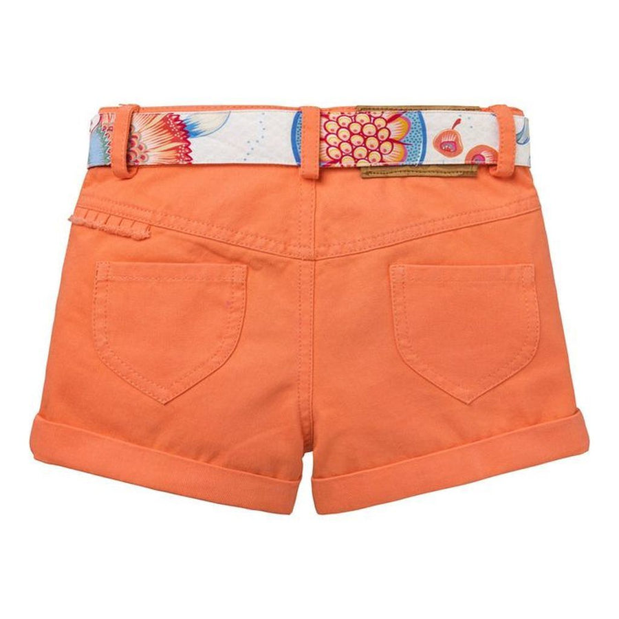 Oilily Plain Coral Twill Paradiso shorts-Shorts-Oilily-kids atelier