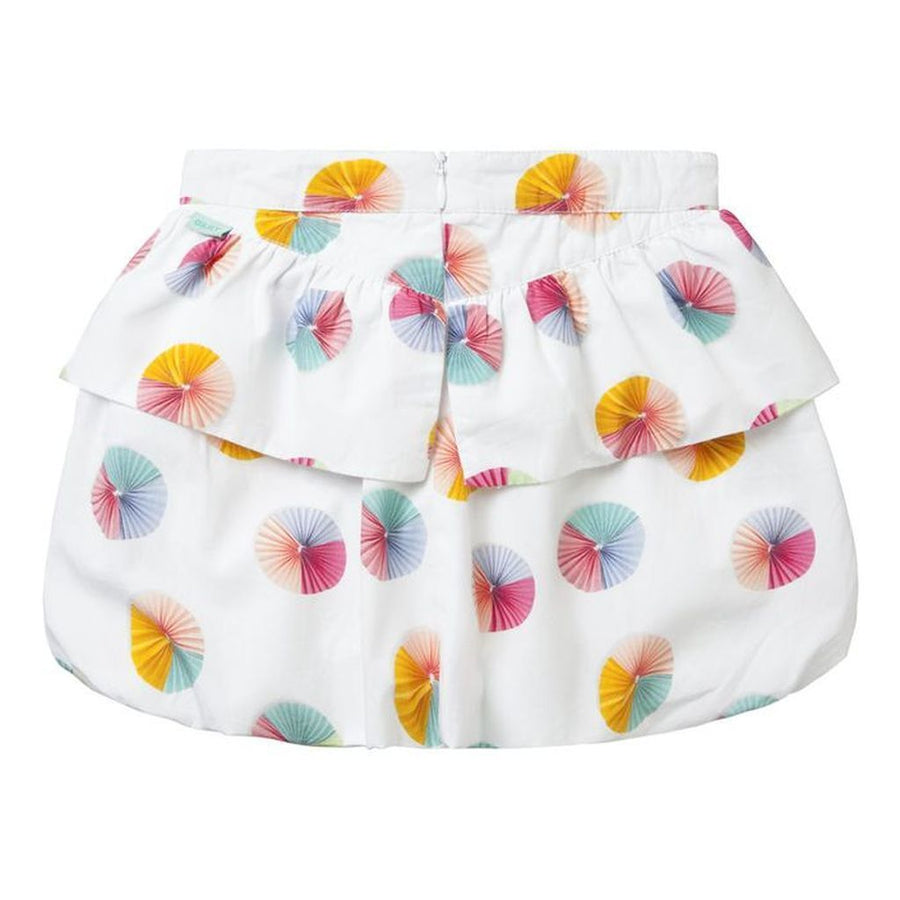 Oilily White Circle fan Sancha Skirt