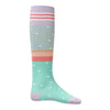 Oilily Green Stripes And Dots Mercredi Knee Socks-Accessories-Oilily-kids atelier