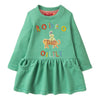 Oilily Turquoise Rdeo Helena Sweat Dress-Dresses-Oilily-kids atelier