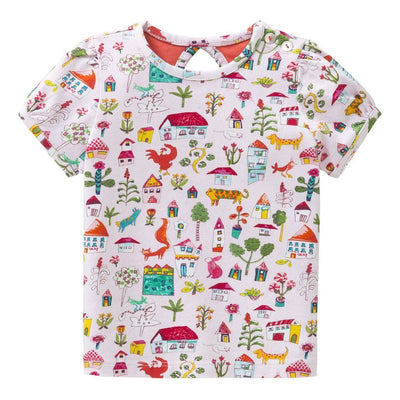 Oilily Pink Tabby T-shirt-Shirts-Oilily-kids atelier