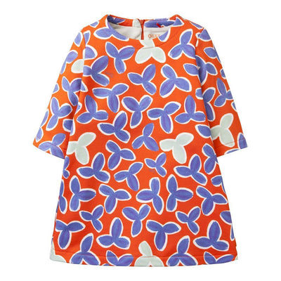 OILILY Red Leaves Haring Dress-Dresses-Oilily-kids atelier
