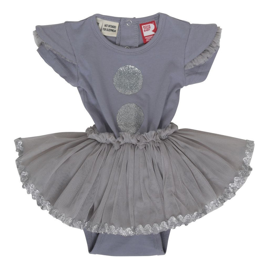 Rock Your Baby Silver Dot-LS Dress