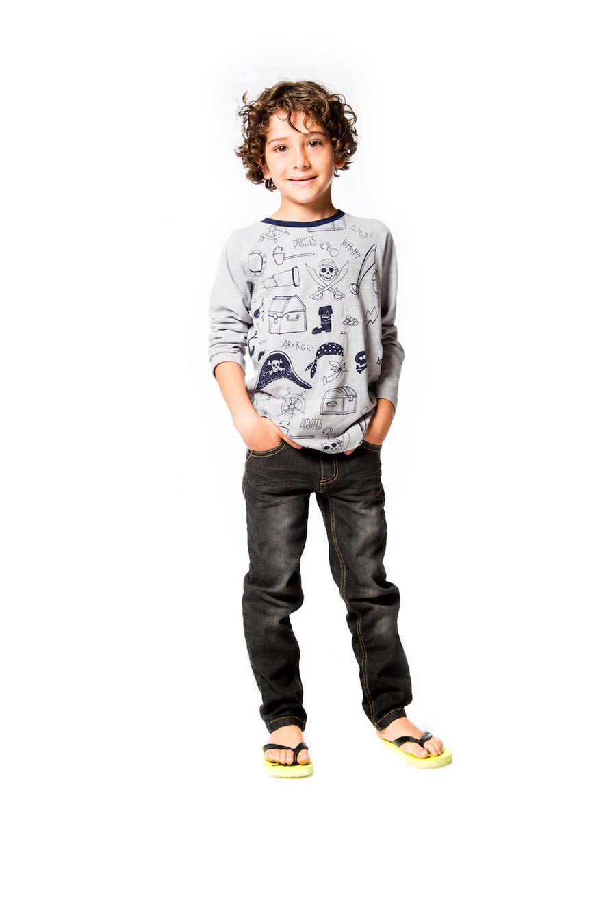 Deux Par Deux Grey Mix Top-Shirts-Deux Par Deux-kids atelier