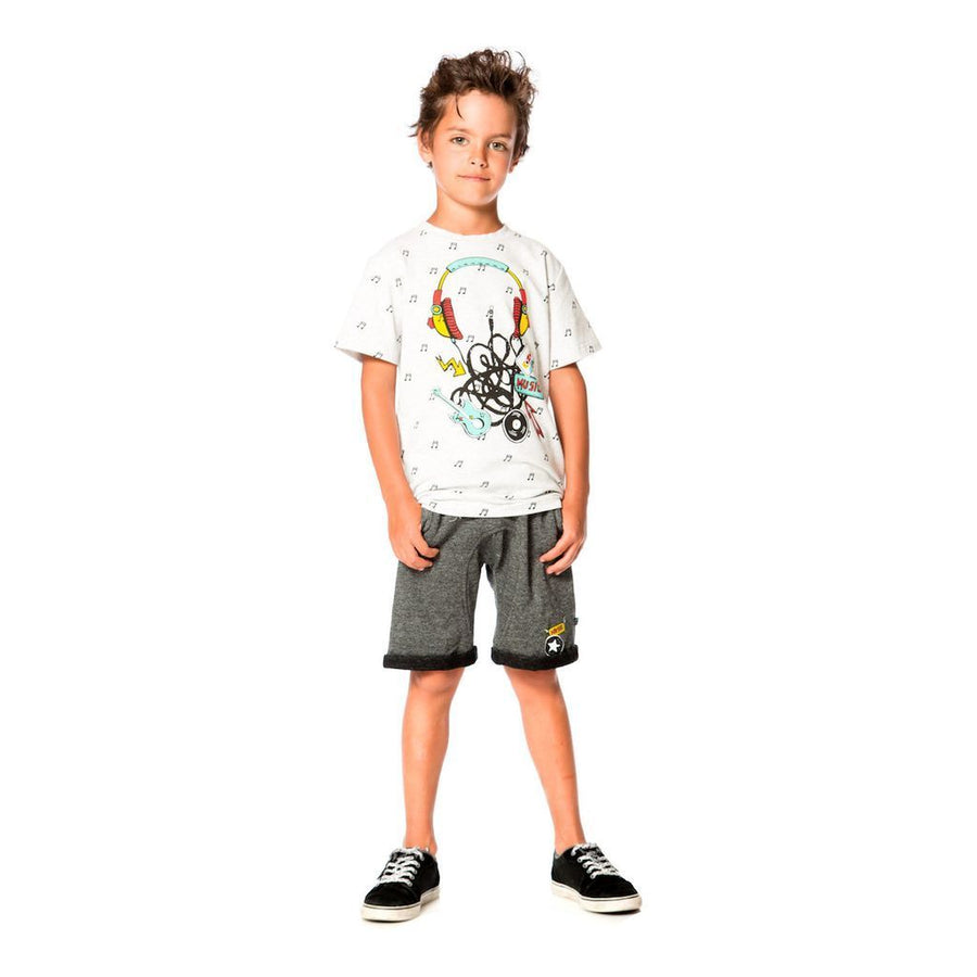 Deux Par Deux Light Grey Mix Top-T-Shirt-Deux Par Deux-kids atelier