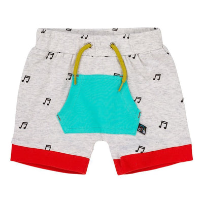 Deux Par Deux Light Grey Mix Top & Shorts Set-Outfits-Deux Par Deux-kids atelier