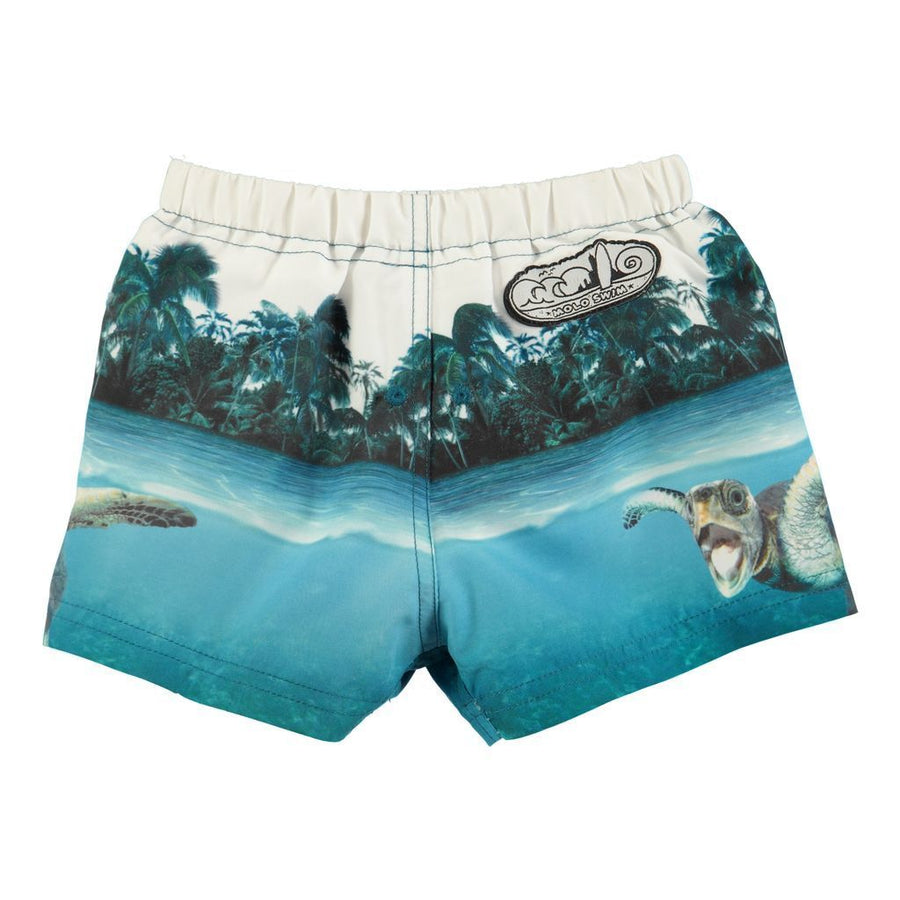 Molo Newton Singing Turtle Swim Shorts-Swimwear-Molo-kids atelier