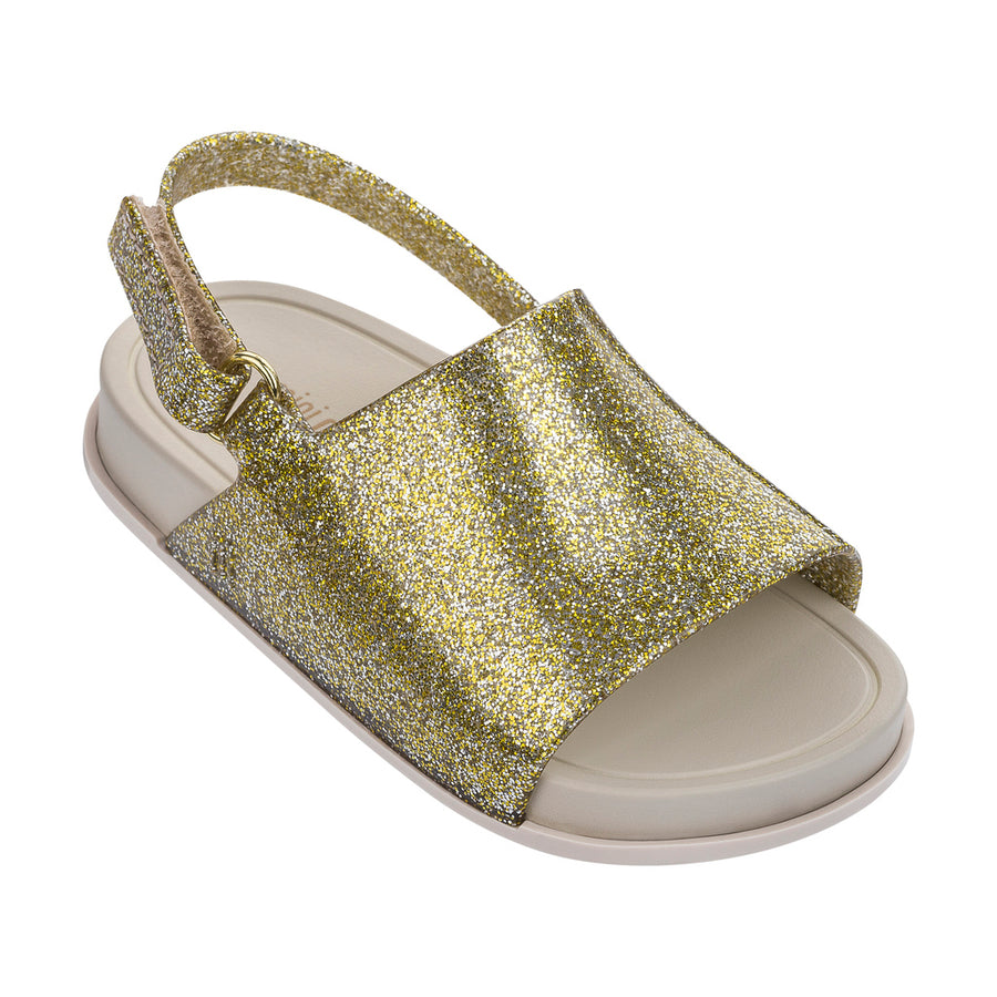 95403b957798 MINI MELISSA GOLD GLITZ MINI BEACH SLIDE SANDAL-Shoes-Mini Melissa-kids  atelier