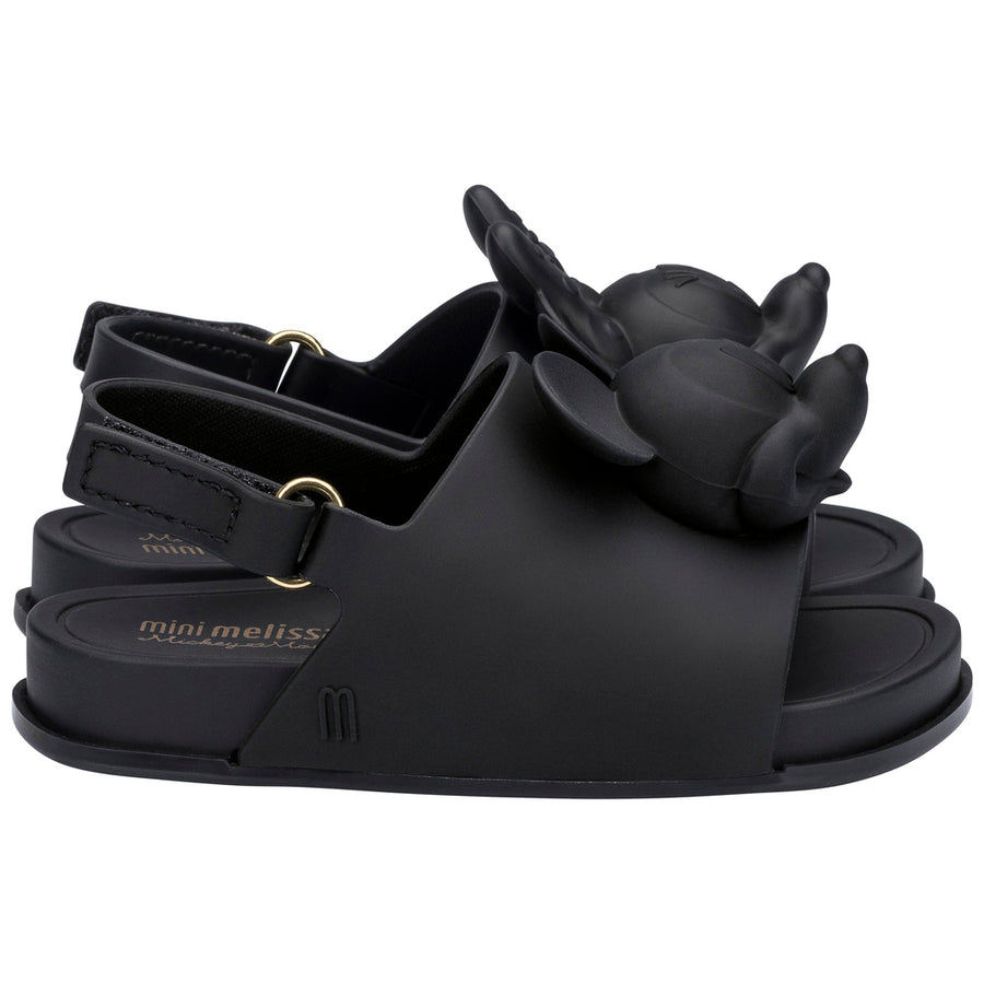 bcd287992 MINI MELISSA BLACK MINI BEACH SLIDE SANDAL + DISNEY-Shoes-Mini Melissa-kids