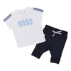 Boss White Top & Navy Bottoms set-Outfits-BOSS-kids atelier