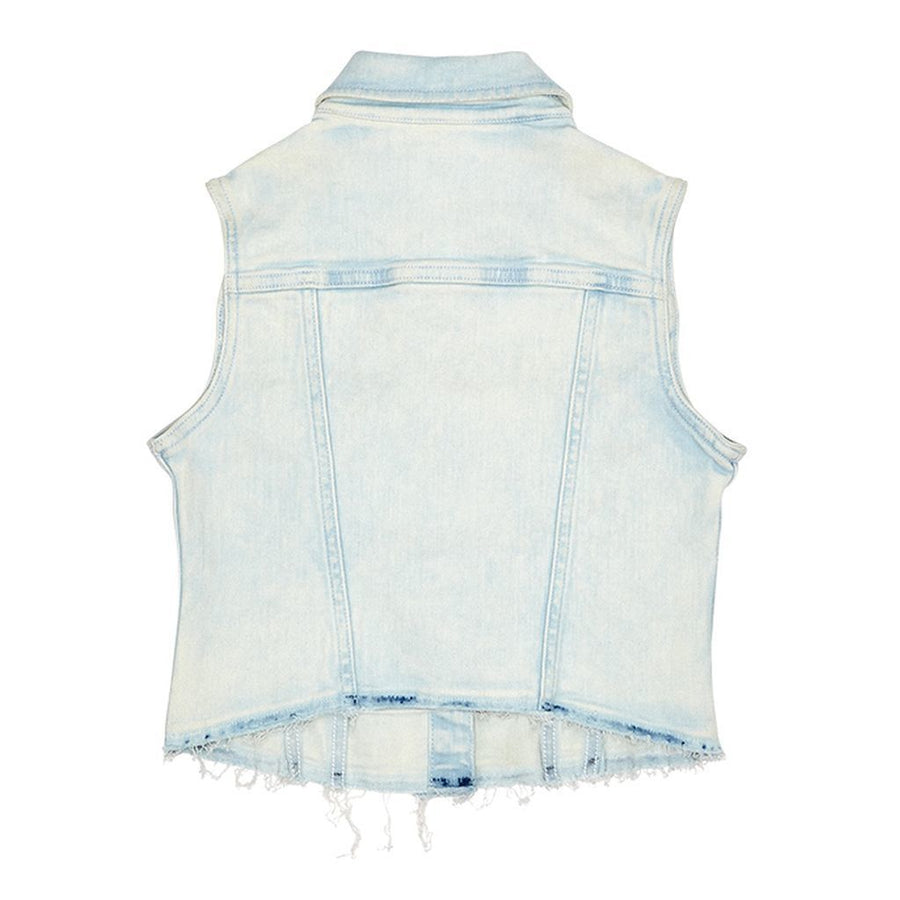 DL1961 Surfside Barbi Denim Vest-Outerwear-DL1961-kids atelier