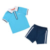Boss Blue Polo & Shorts-Outfits-BOSS-kids atelier