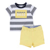 Boss Navy and Yellow T-Shirt And Shorts Set-Outfits-BOSS-kids atelier
