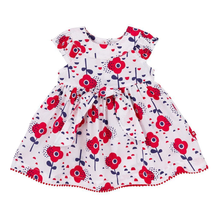 Deux Par Deux Red Orchid Dress With Bloomer