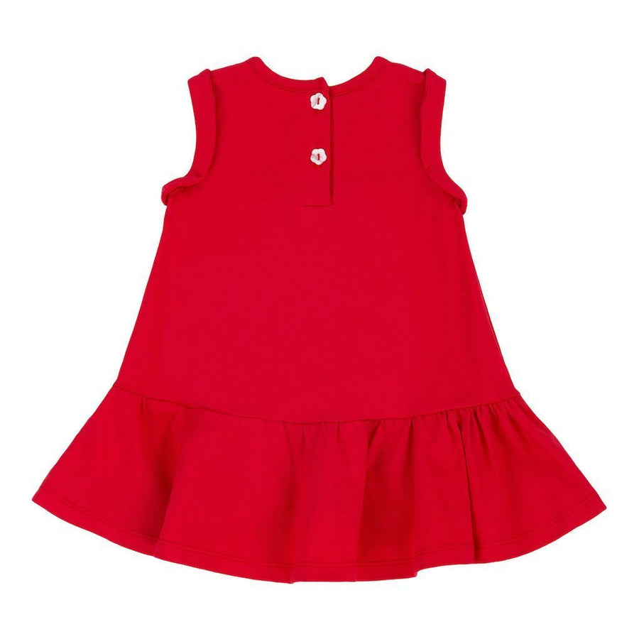 Deux Par Deux Red Orchid Jersey Dress-Dresses-Deux Par Deux-kids atelier