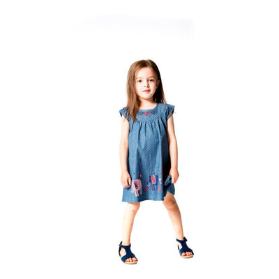 Deux Par Deux Classic Chambray Dress-Dresses-Deux Par Deux-kids atelier