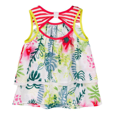 Deux Par Deux Tropical Print Summer Talk Printed Top-Shirts-Deux Par Deux-kids atelier
