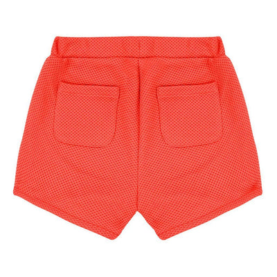 Deux Par Deux Coral Cold Press Fashion Stretch Shorts-Shorts-Deux Par Deux-kids atelier