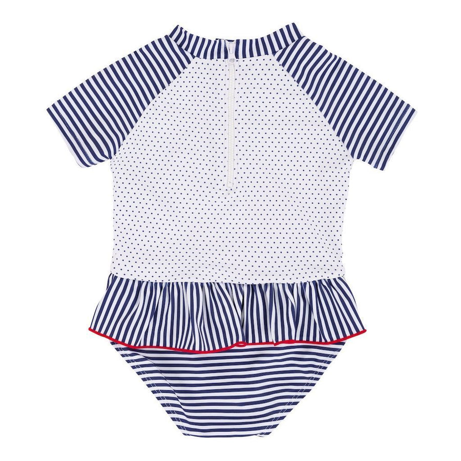 Deux Par Deux Navy Stripes Swimsuit