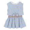 Little Marc Jacobs Blue Striped Dress
