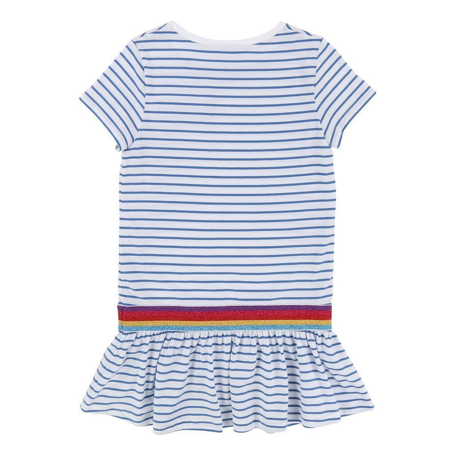 Little Marc Jacobs Blue Striped Dress-Dresses-Little Marc Jacobs-kids atelier