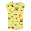 Little Marc Jacobs Yellow Stickers Dress-Dresses-Little Marc Jacobs-kids atelier