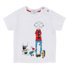 Little Marc Jacobs White Mr Marc T-Shirt