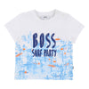 Boss White Surf Print T-Shirt-T-Shirt-BOSS-kids atelier