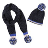 Billieblush Navy Bobble Hat & Scarf Set
