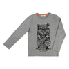 Billybandit Gray Tiger T-Shirt-Shirts-Billybandit-kids atelier
