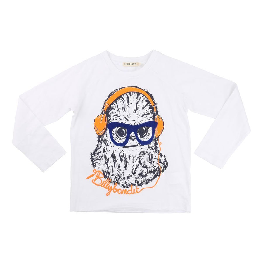 Billybandit White Headphone T-Shirt-Shirts-Billybandit-kids atelier