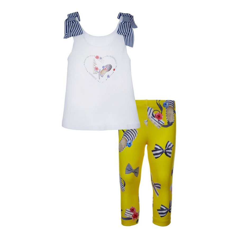 Lapin House White Tank Top & Legging Set-Outfits-Lapin House-kids atelier