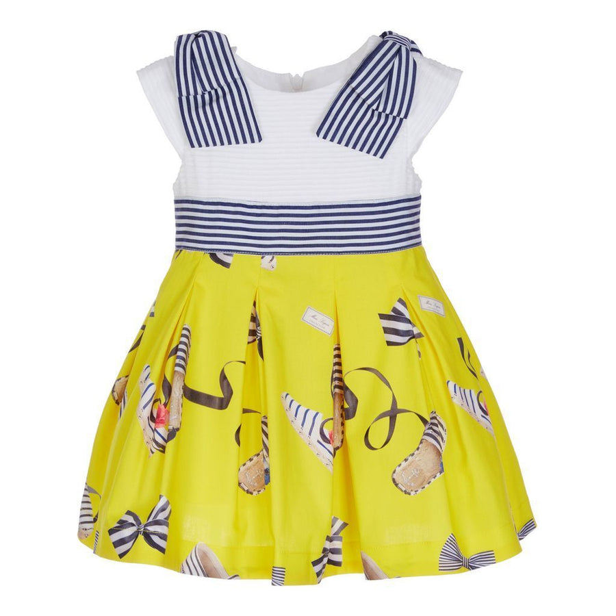 Lapin House White & Yellow Dress-Dresses-Lapin House-kids atelier