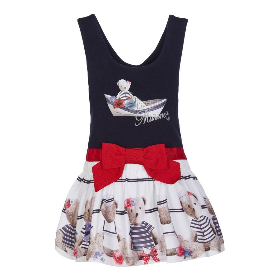 Lapin House Navy Blue Bear Dress-Dresses-Lapin House-kids atelier