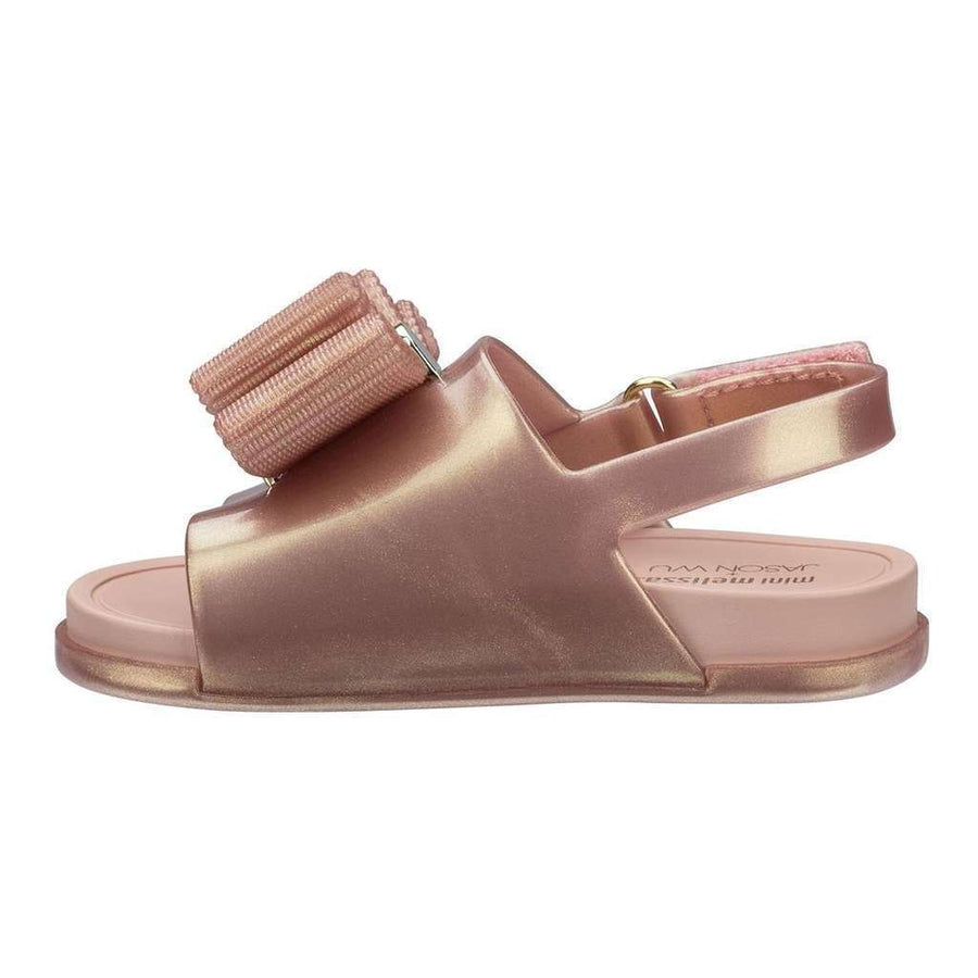 MELISSA-MINI BEACH SLIDE SANDAL + JASON WU-32385-19763 MTLLIC PIN