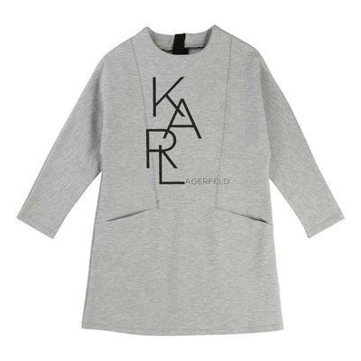 Karl Lagerfeld Gray Dress-Dresses-Karl Lagerfeld-kids atelier