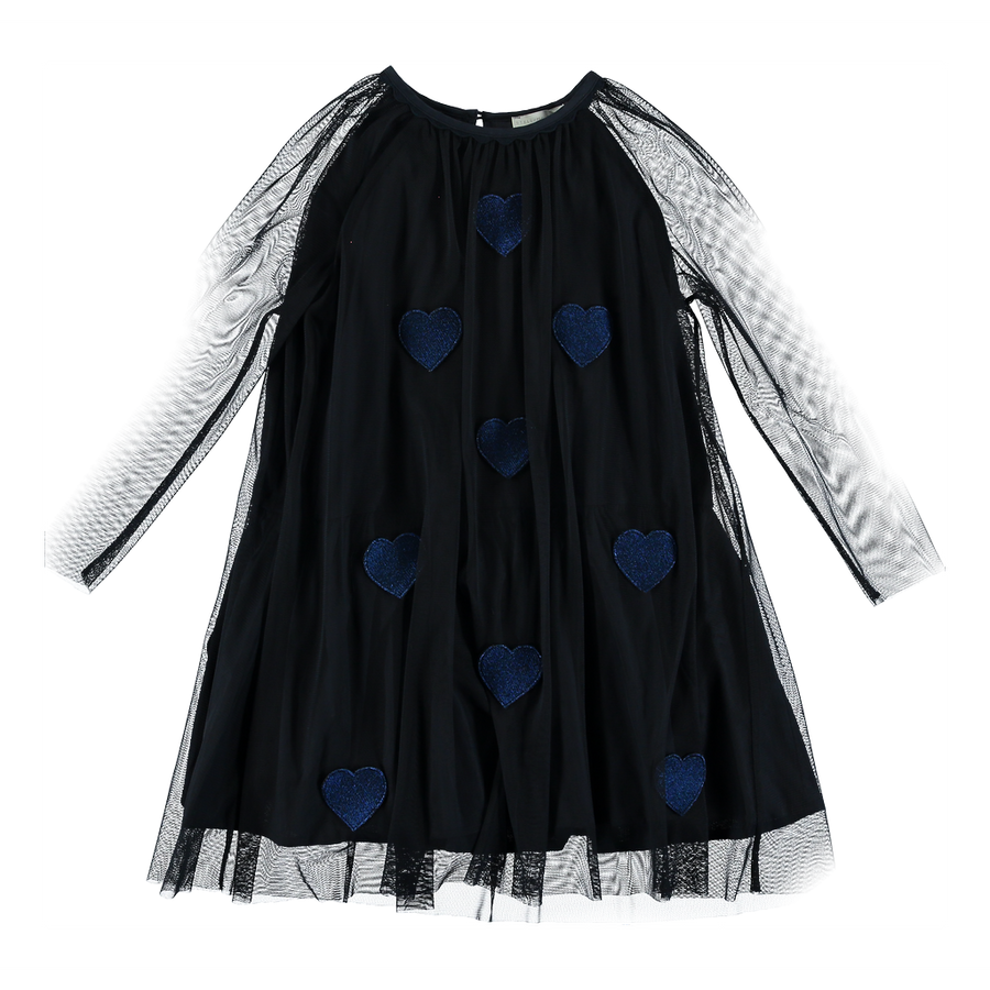 Stella McCartney Misty Tulle Dress With Heart Patches