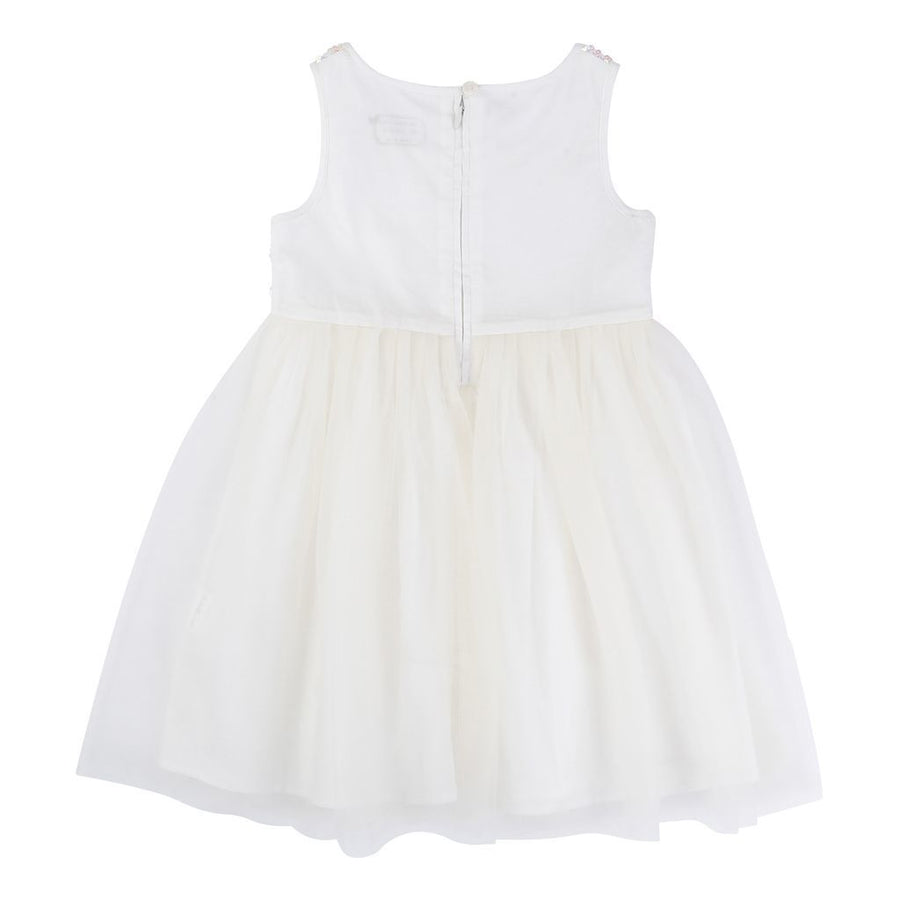 BLUSH-DRESS+HEADBAND-U1K028-148 IVORY-Default-Billieblush-kids atelier