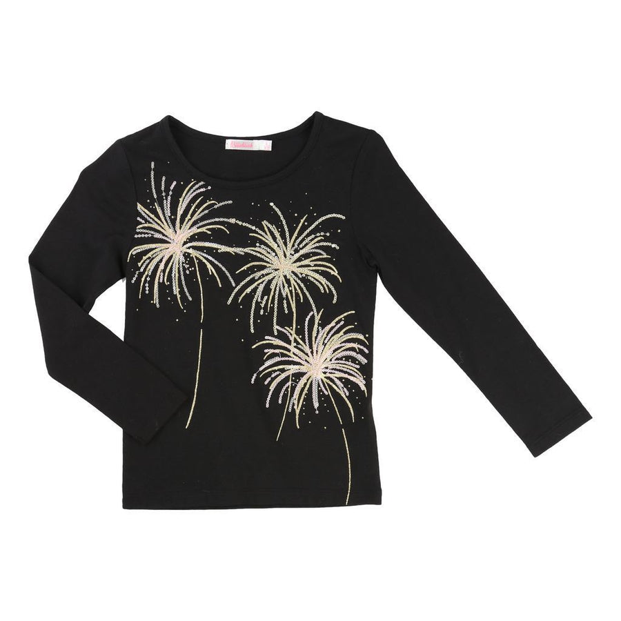BLUSH-T-SHIRT-U15357-09B BLACK-Default-Billieblush-kids atelier