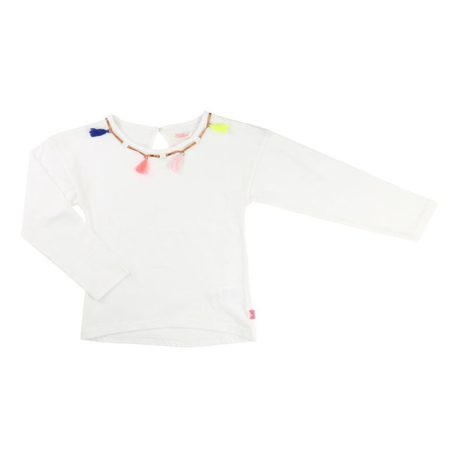 BLUSH-LONG SLEEVE T-SHIRT-U15351-105 WHITE-Default-Billieblush-kids atelier