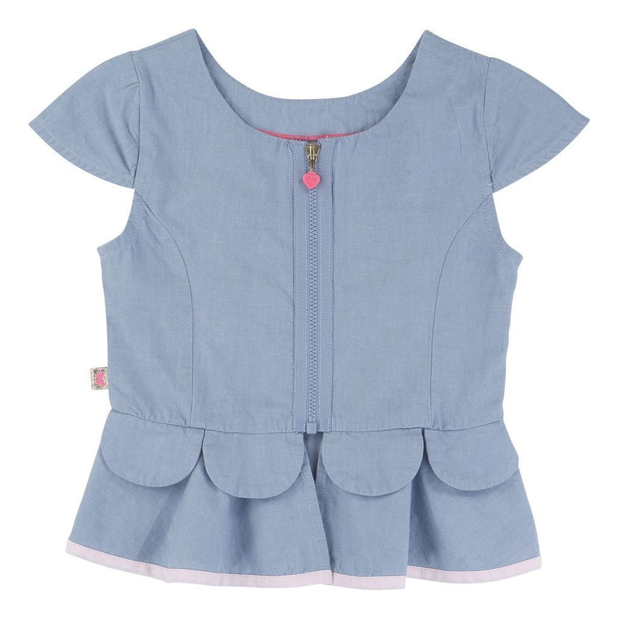 BLUSH-BLOUSE-U15209-Z77 CHAMBRAY-Default-Billieblush-kids atelier