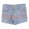 BLUSH-DENIM SHORTS-U14082-Z04 BLEACH-Default-Billieblush-kids atelier