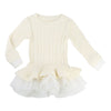 BLUSH-DRESS-U12237-105 WHITE-Default-Billieblush-kids atelier