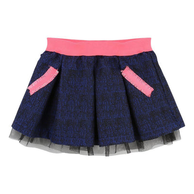 Billieblush Blue & Black Skirt