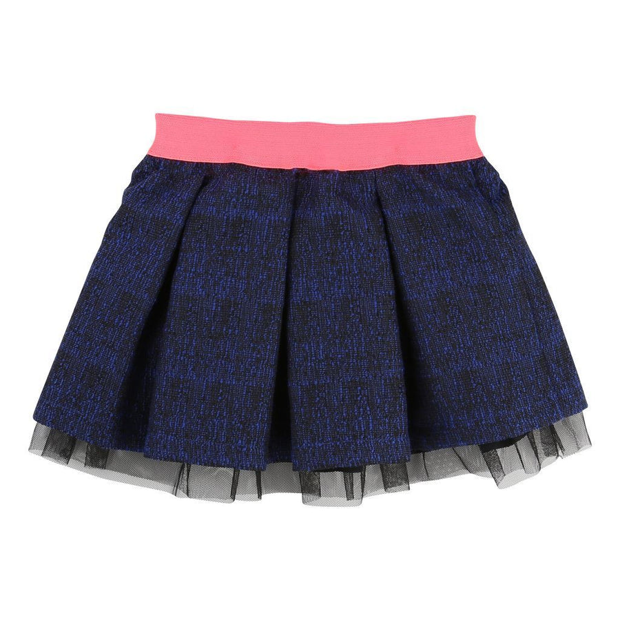 Billieblush Blue & Black Skirt-Default-Billieblush-kids atelier
