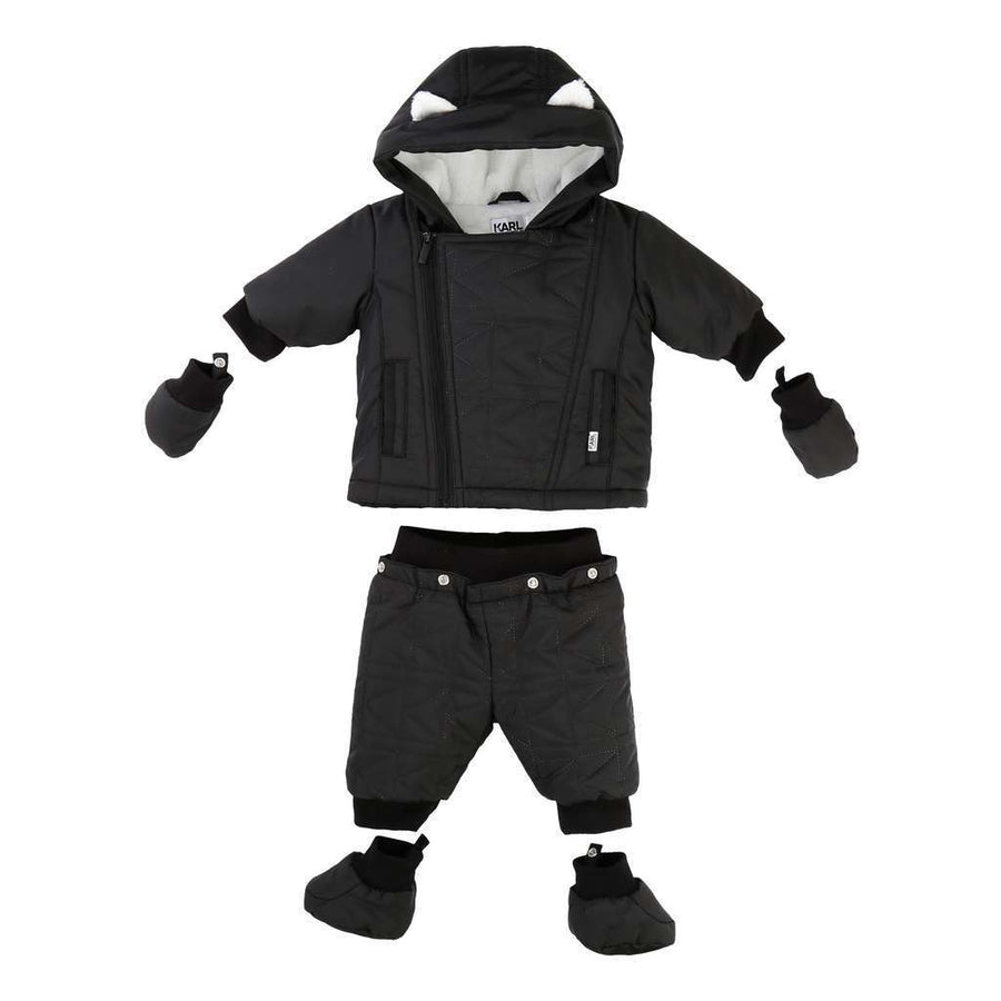 Karl Lagerfeld Black Snowsuit