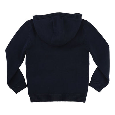 BOSS-KNITTED CARDIGAN-J25A23-849 NAVY-Default-BOSS-kids atelier