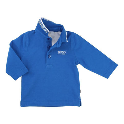 BOSS-LONG SLEEVE POLO-J05V48-76N TURQUOISE-Default-BOSS-kids atelier