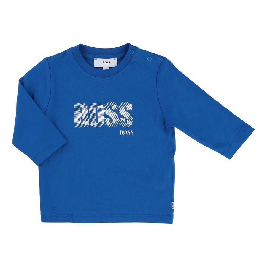 BOSS-LONG SLEEVE T-SHIRT-J05502-76N TURQUOISE-Default-BOSS-kids atelier